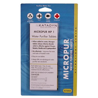 MicroPur Water Purification Tablets (30 pack)