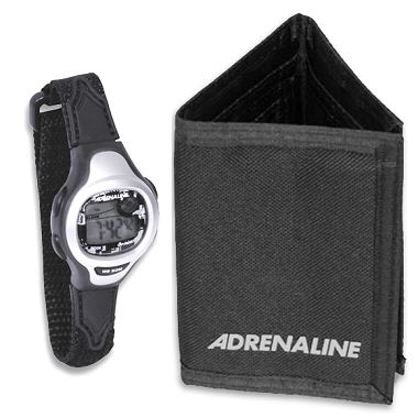 Adrenaline Sport Watch/Wallet Combo