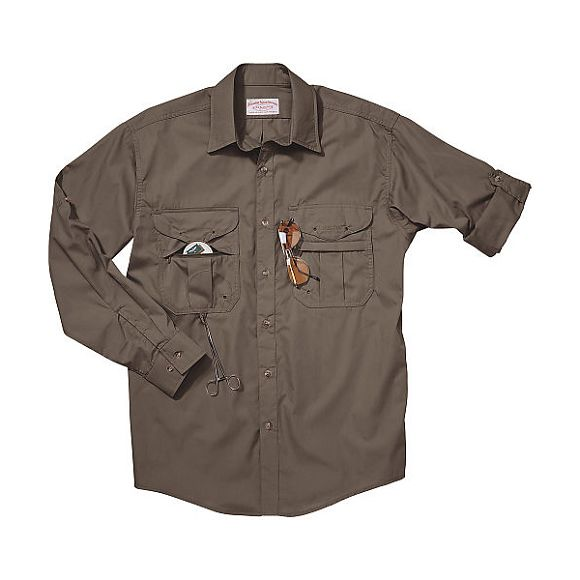 filson mens featherweight cloth fly fishing shirt long
