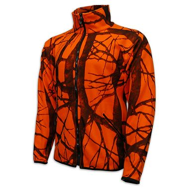 Orange Camouflage Fleece Jacket