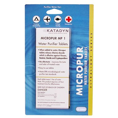 Micropur MP1 Water Purification Tablets (20 pack)