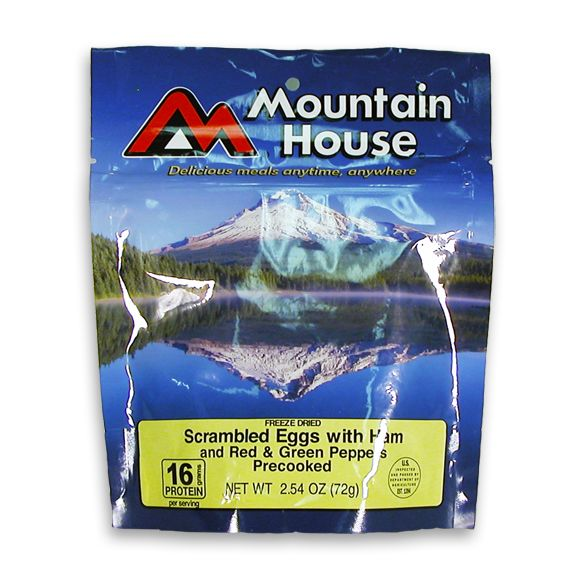 Mountain House Eggs Scrambled with Ham, Red and Green Peppers