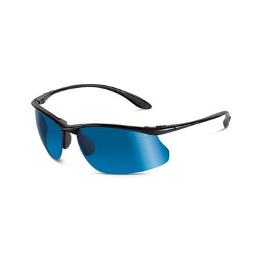 Kicker Sunglasses (Shiny Black/Polarized Offshore Blue)
