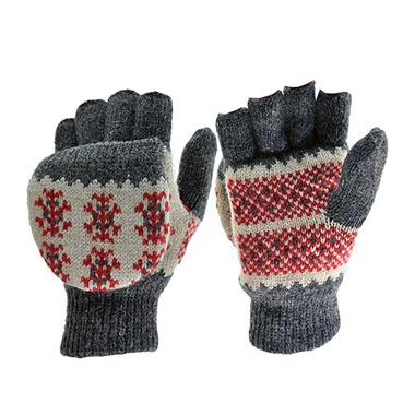 Womens Snowflake Convertible Glove