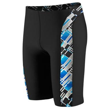 Men's Circuit Board Spliced Jammer Swimsuit