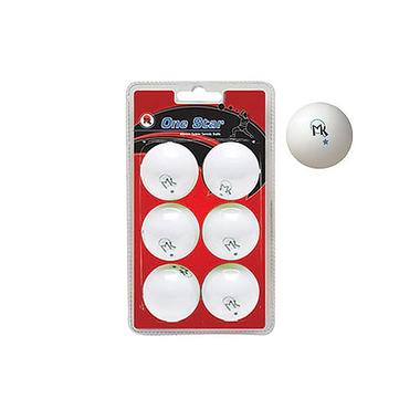 MK One Star Table Tennis Balls: 6 Pack
