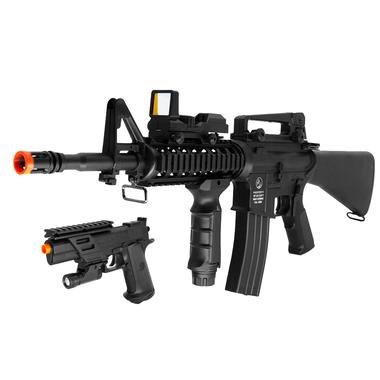 DPMS M4A1 Electronic Airsoft Rifle On Duty Kit