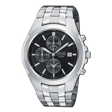 Mens Silver Tone Chronograph Watch PF8209