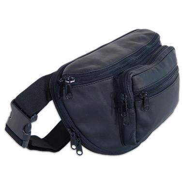 Large Leather Fanny Pack with Holster