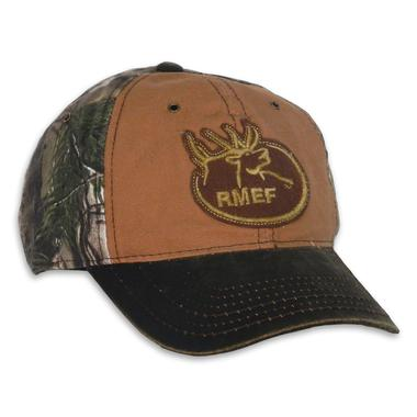 RMEF Camo with Weathered Cotton Visor Cap