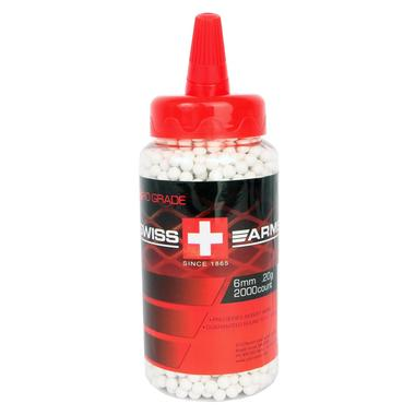 Swiss Arms Pro Grade Airsoft BBs / 2,000 Count