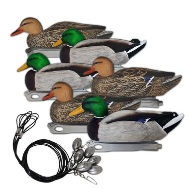 Floating Mallards: Pre-Rigged 6 Pack