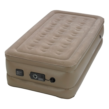 Raised Twin Air Bed with NeverFlat AC Pump