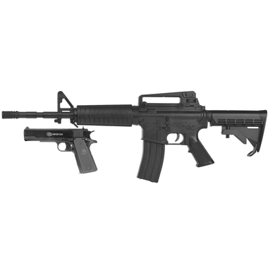 Colt M4-A1 Assault Rifle/M1911 Spring Airsoft Pistol Combo Kit