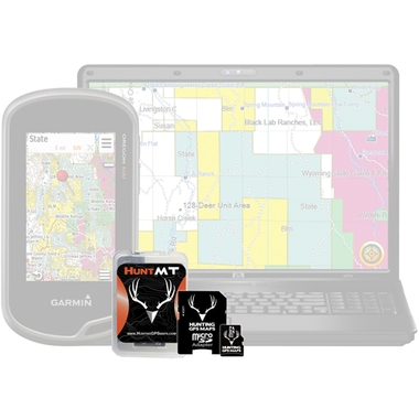 Montana Public/Private Land Ownership Topo Maps for Garmin GPS