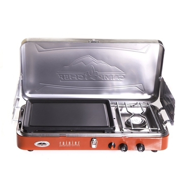 Rainier Two-Burner Stove with Griddle