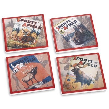 Sports Afield Big Game Coasters (Set of 4)