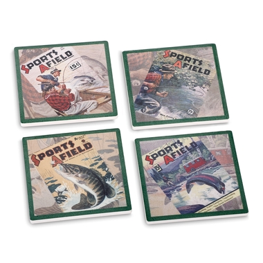 Sports Afield Fishing Coasters (Set of 4)