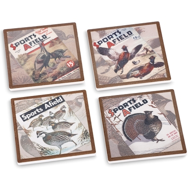Sports Afield Upland Bird Coasters (Set of 4)