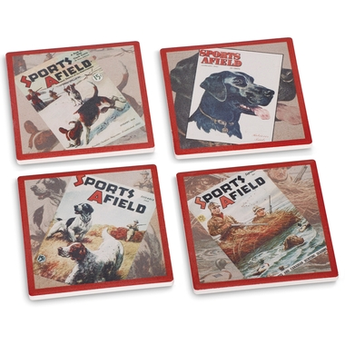Sports Afield Sporting Dog Coasters (Set of 4)