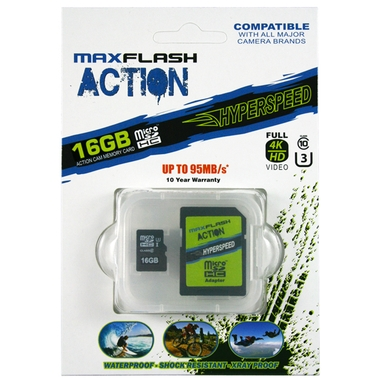 Action 16GB Hyperspeed microSD Memory Card