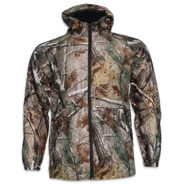 Youth Camo Hooded Rain Jacket