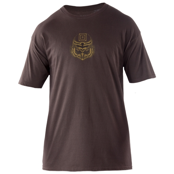 Tactical men s owl logo tee for Owl fish clothing
