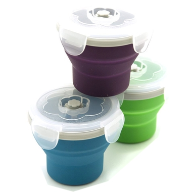 Snacker Collapsible Silicone Box Food Storage Container