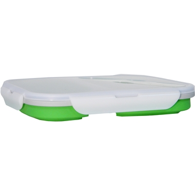 Collapsible Silicone Double Compartment Lunchbox
