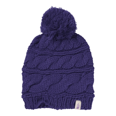 Women`s Triple Cable Pom Beanie