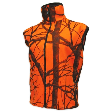 Orange Camouflage Fleece Vest