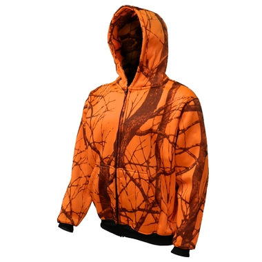Men`s Orange Camo Thermal Hoodie