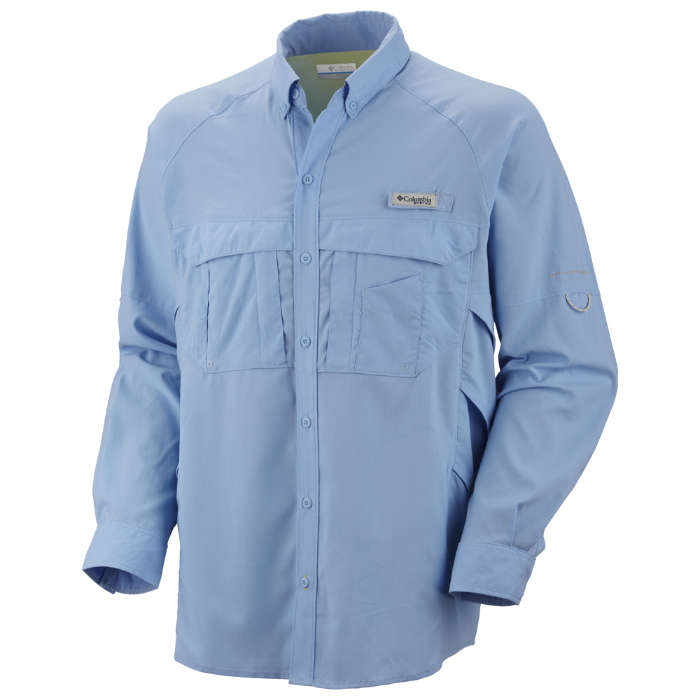 Columbia men 39 s airgill lite long sleeve shirt for Columbia fishing pants