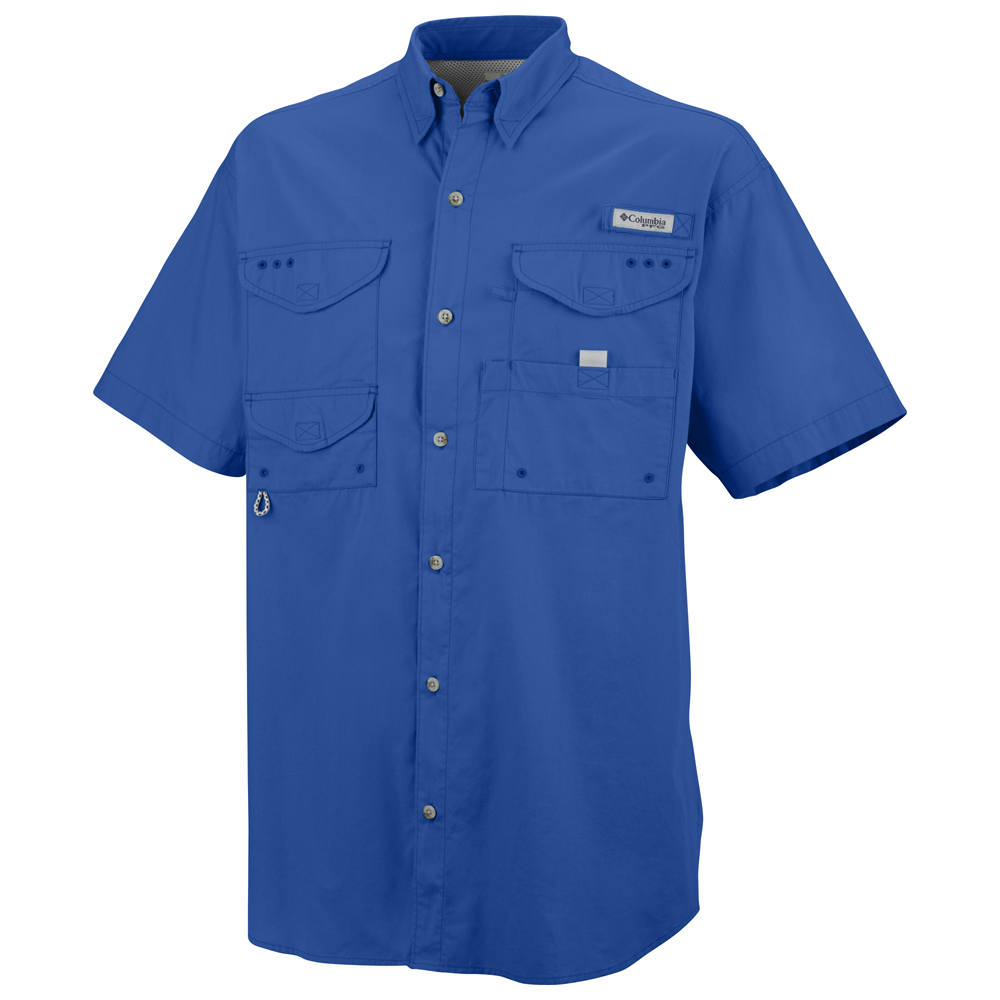 Columbia men s bonehead short sleeve shirt for Embroidered columbia fishing shirts