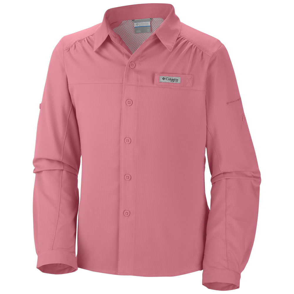 Columbia girl s youth tamiami long sleeve shirt for Lightweight long sleeve fishing shirts