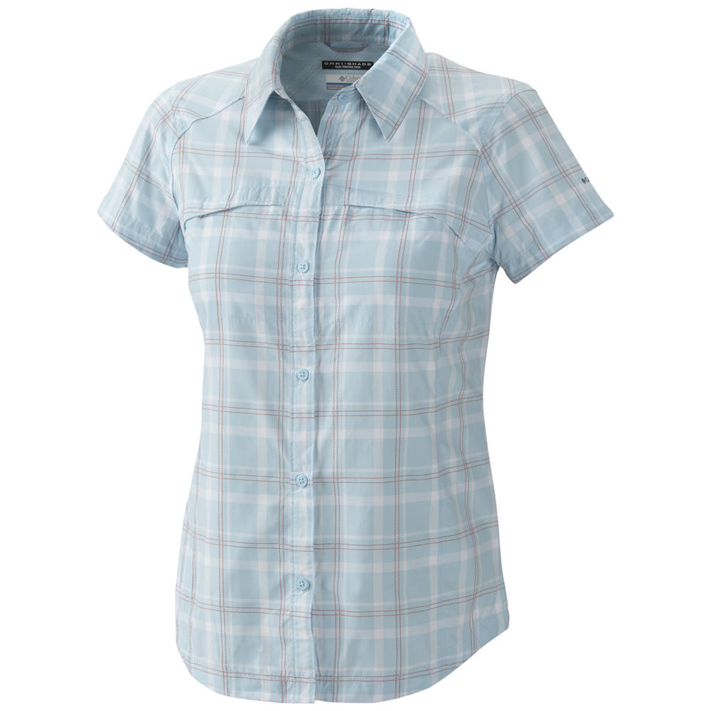 Columbia women s silver ridge multi plaid short sleeve shirt Short sleeve plaid shirts