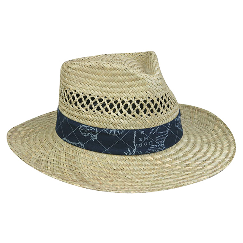 Outdoor cap nautical straw hat for Fishing straw hat