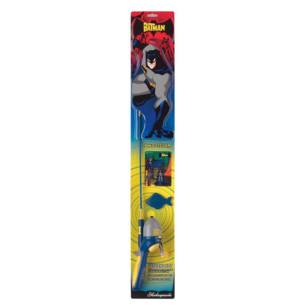 shakespear batman adventure fishing rod kit