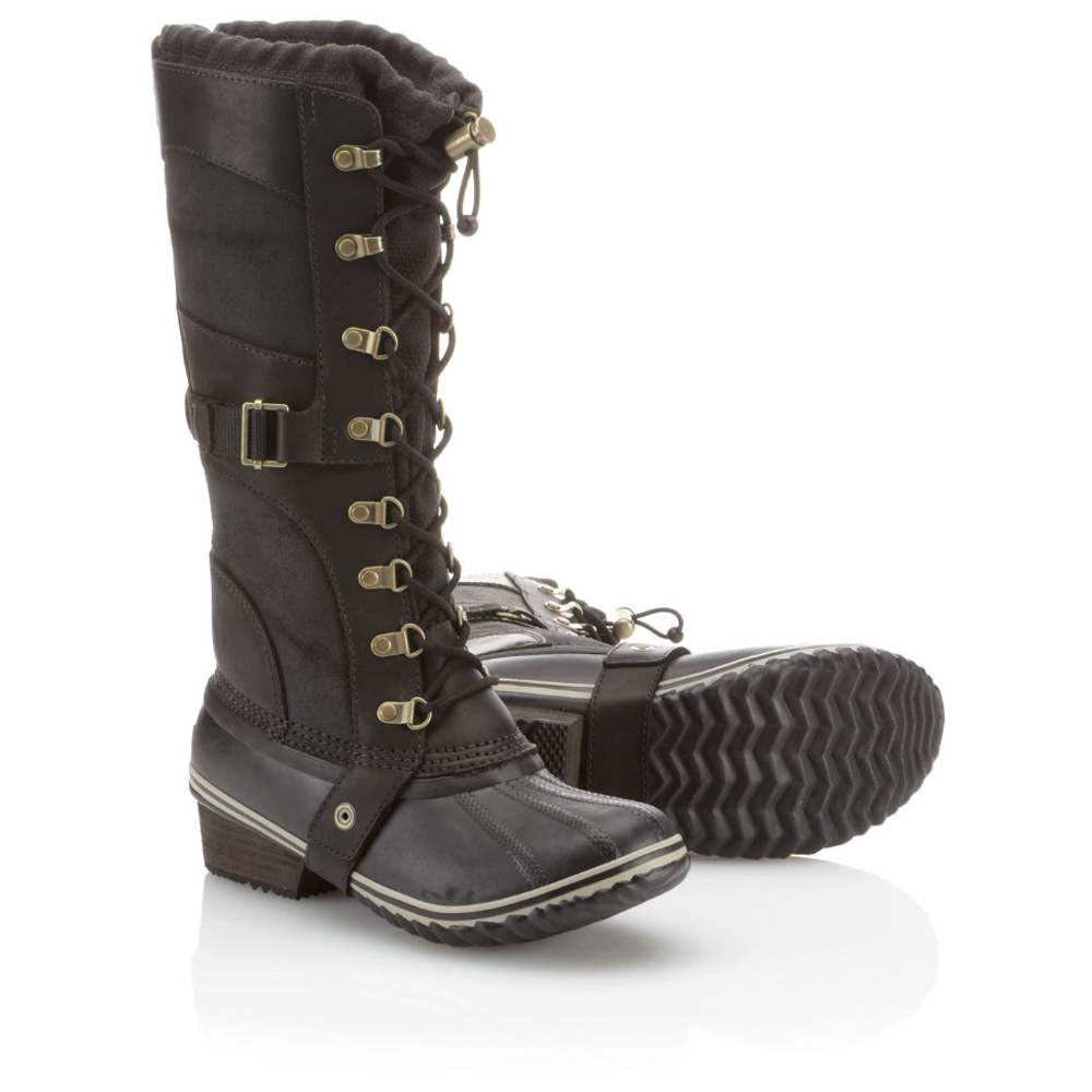 Lastest The Waterproof, Fullgrain Leather, Suede And Canvas Uppers On The Sorel Womens Conquest Carly II Boots Are Seamsealed For Lasting Protection Fullgusset Construction Features Bungee And Lace Closures For A Customized Fit Insulated