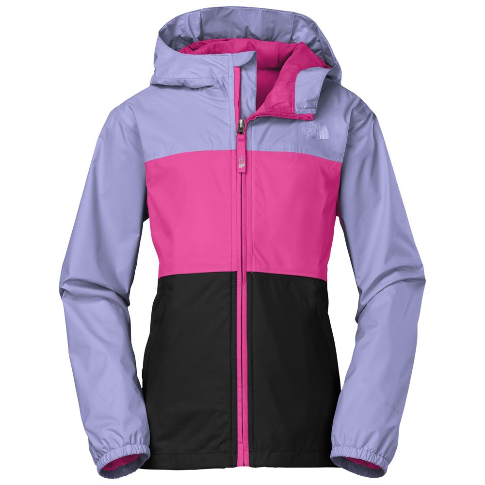 Girls' rain jackets are either water resistant or waterproofed with taped inner seams, and feature a fold-out hood and elastic or adjustable cuffs for optimum comfort and protection. She'll love the way she looks and be happy to stay dry.