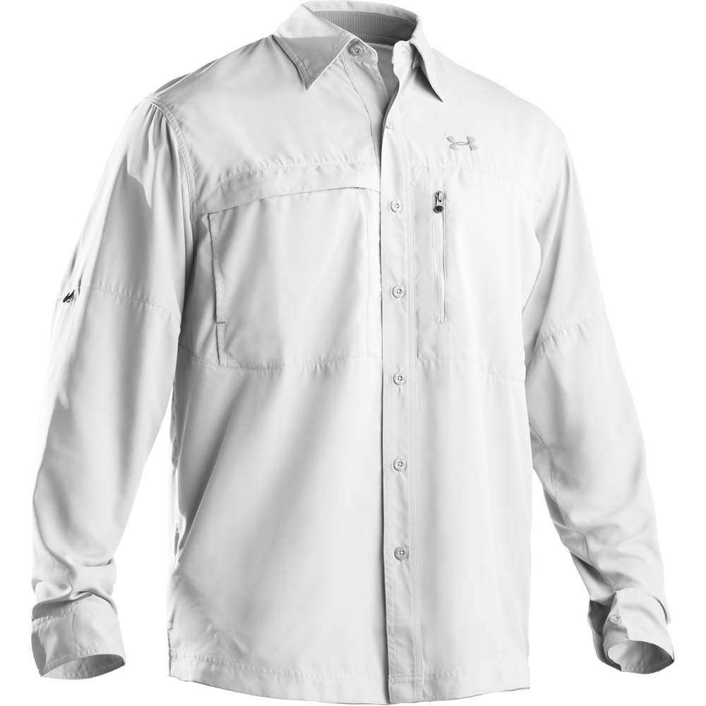 Under armour men s flats guide ii long sleeve shirt for Under armour long sleeve fishing shirt