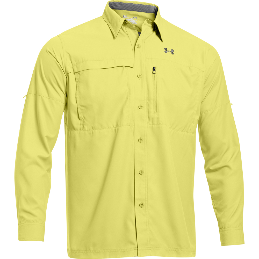 Under armour men s flats guide ii long sleeve shirt for Under armor fishing shirt