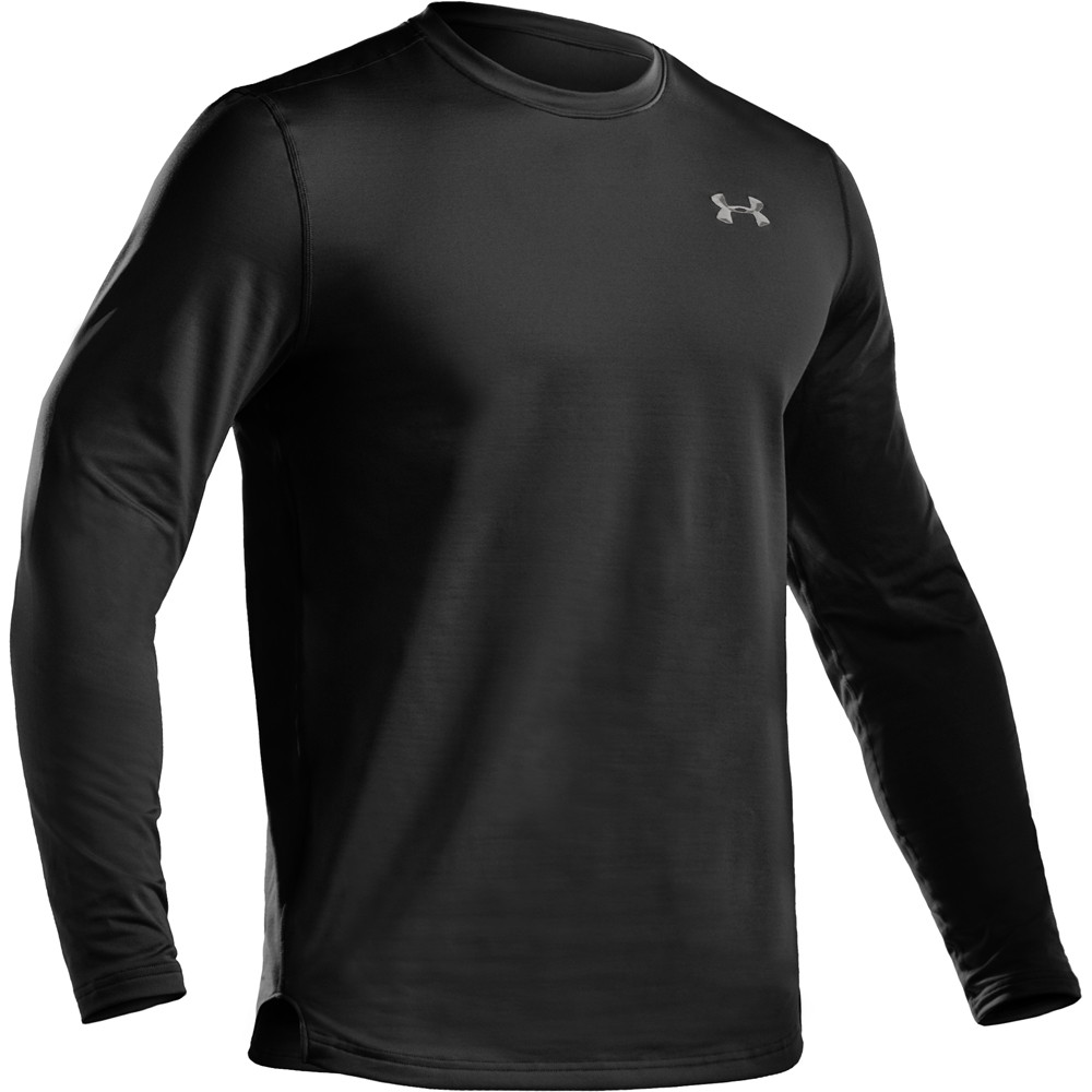 Underarmour men 39 s ua coldgear fitted long sleeve crew for Under armour cold gear shirt mens