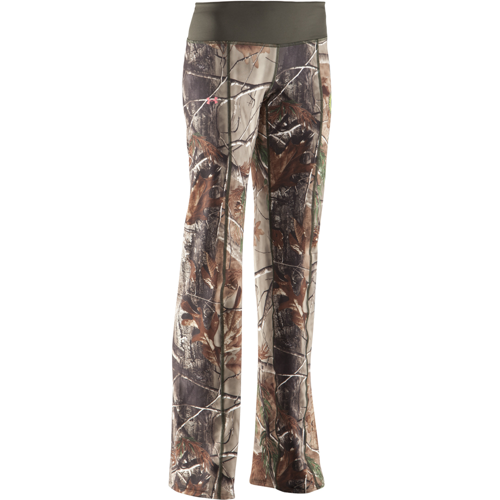 Cool Woodland Green Camo Plush Pants For Women  Click To Enlarge