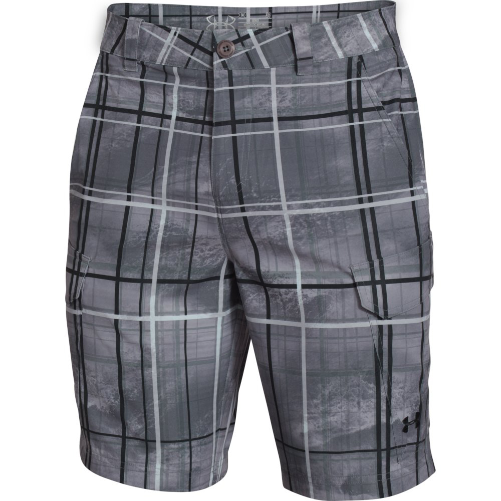 Under armour men s fish hunter cargo short for Under armour fishing shorts