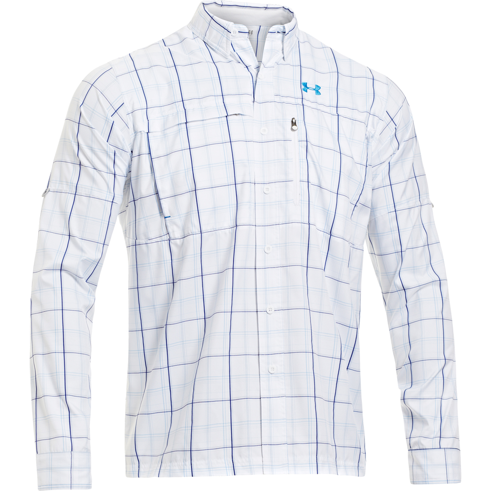 Under armour men s flats guide long sleeve shirt for Under armour long sleeve fishing shirt