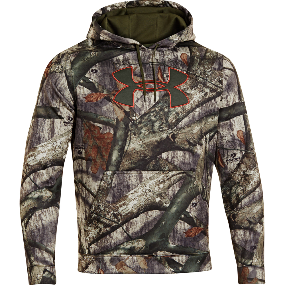 Under armour camo big logo hoodie