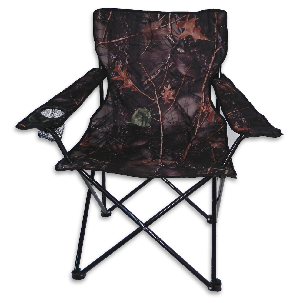 World Famous Camo Quad Folding Chair with Arm Rest