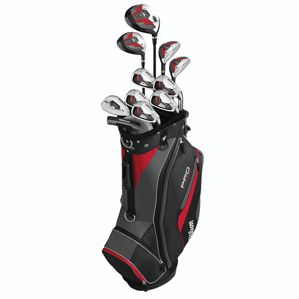 wilson men s pro fit 15 piece golf set. Black Bedroom Furniture Sets. Home Design Ideas
